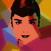 Audrey Hepburn Pop Art 1 Art Print