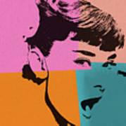 Audrey Hepburn Pop Art 2 Art Print
