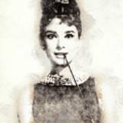 Audrey Hepburn Portrait 01 Art Print