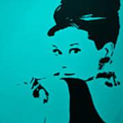 Audrey Light Blue Art Print