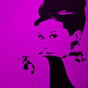 Audrey Purple Art Print