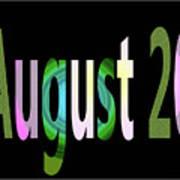 August 20 Art Print