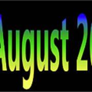 August 26 Art Print