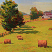 August Hay Field Art Print
