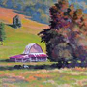 August Pastures Art Print