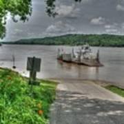 Historic Augusta Ferry. Art Print
