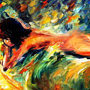 Aura Of Love - Palette Knife Oil Painting On Canvas By Leonid Afremov Art Print