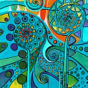Aurora Borealis Green Art Print
