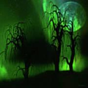 Aurora Borealis Lights - Painting Art Print