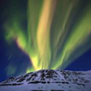Aurora Borealis Over Toviktinden Art Print