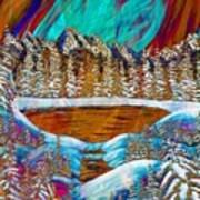 Aurora's Reflections Art Print