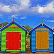 Aussie Beach Boxes Art Print