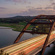 Austin 360 Bridge At Night Art Print