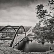 Austin 360 Bridge In Early Dawn Art Print