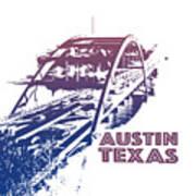 Austin 360 Bridge, Texas Art Print
