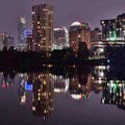 Austin Lights Up Lady Bird Lake Art Print