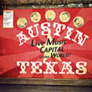 Austin Live Music Art Print