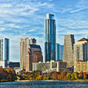 Austin Skyline Panorama Art Print
