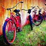 Austin Texas Bikes  -- Original Painting Art Print