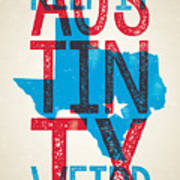 Austin Poster - Texas - Keep Austin Weird Art Print