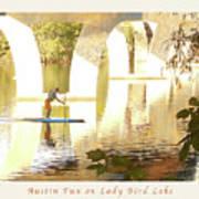 Austin Texas - Lady Bird Lake - Mid November Three - Greeting Card Print by Felipe Adan Lerma