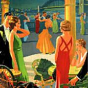 Australia, Romantic Night, Dance And Music, Hotel Terrace Art Print