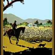 Australia, Shepherd Art Print