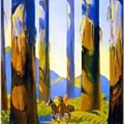 Australia - The Tallest Trees In The British Empire - Marysville, Victoria - Retro Travel Poster Art Print