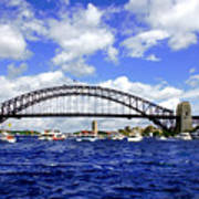 Australian Day Is A Party Day On Sydney Harbour  Art Print