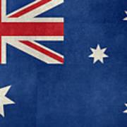 Australian Flag Vintage Retro Style Art Print