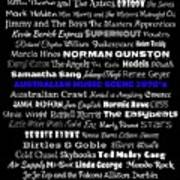 Australian Music Scene 1970's No 7 Art Print