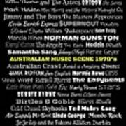 Australian Music Scene 1970's No 8 Art Print
