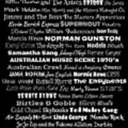 Australian Music Scene 1970's No 1 Art Print