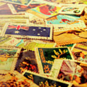 Australian Postal Background Art Print
