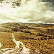 Australian Rural Panoramic Landscape Art Print
