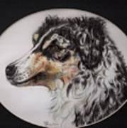 Australian Shepherd Della Mae Art Print
