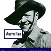 Australian This Man Is Your Friend  Art Print