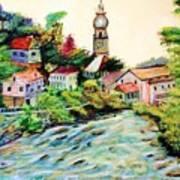 Austrian Alpine Village   Art Print