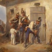 Austrian Dragoons Art Print