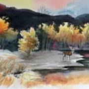 Autimn Buck Art Print