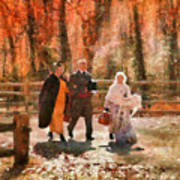 Autumn - People - A Walk In The Countryside Art Print