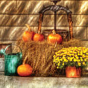 Autumn - Pumpkin - A Still Life With Pumpkins Art Print