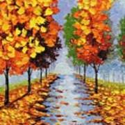 Autumn Alley Art Print
