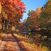 Autumn Along The Canal Art Print
