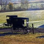 Autumn Amish Horse Buggy Art Print