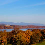 Autumn And The Hudson River Art Print