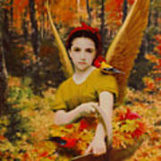Autumn Angels Art Print