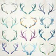 Autumn Antlers Art Print