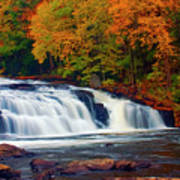 Autumn At Buttermilk Falls Art Print