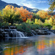212m47-autumn At Cascade Springs  Art Print